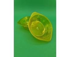 Тарелка одноразовая  стеклоподобная диаметр 500 мл  желтая (10 шт)