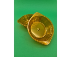 Тарелка одноразовая  стеклоподобная диаметр 500 мл  оранжевая (10 шт)