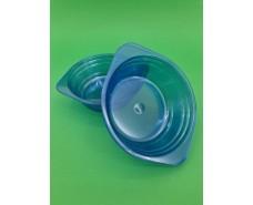 Тарелка одноразовая  стеклоподобная диаметр 500 мл  синяя (10 шт)