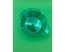 Тарелка одноразовая  стеклоподобная диаметр 500 мл  зеленая (10 шт)