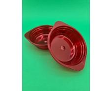 Тарелка одноразовая  стеклоподобная диаметр 500 мл  красная (10 шт)