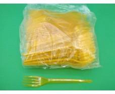 Вилка «Super» стеклоподобная  Юнита желтая (100 шт)
