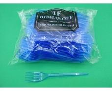 Вилка «Super» стеклоподобная  Юнита синия (100 шт)