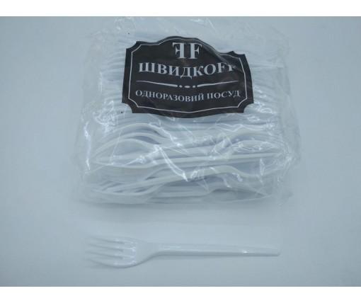 Вилка «Super» стеклоподобная  Юнита белая (100 шт)