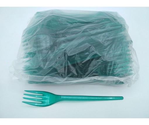 Вилка  «Super»  зеленая  Юнита (100 шт)