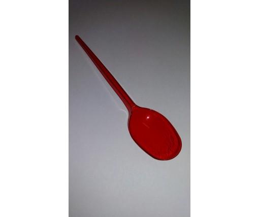 Ложка одноразовая   столовая красная Юнита (100 шт)