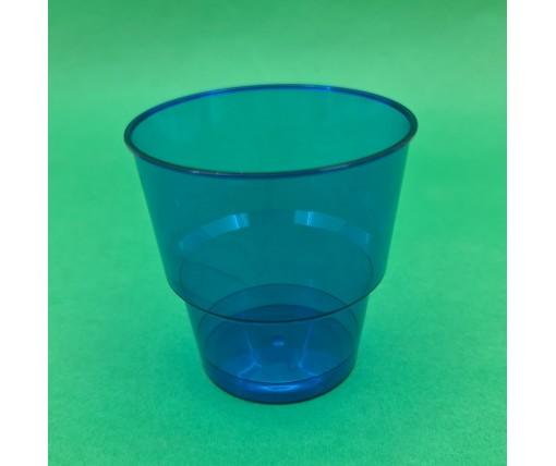 Стакан стеклоподобный (без ножки) 200 гр синий 36Х25 (25 шт)