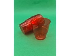 Стакан стеклоподобный (без ножки) 200 гр красный 36Х25 (25 шт)