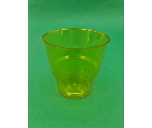Стакан стеклоподобный (без ножки) 200 гр желтый 36Х25 (25 шт)