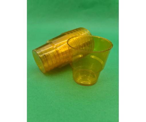 Стакан стеклоподобный (без ножки) 200 гр оранжевый 36Х25 (25 шт)