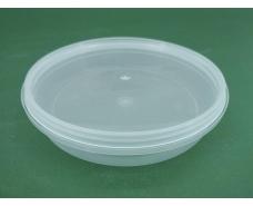Судок с крышкой  круглый 0,18 л. прозрачное  (50 шт)