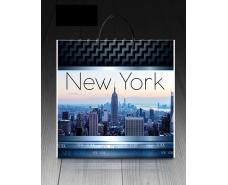 """Пакет с пластиковой ручкой  """"Нью Йорк"""" без ручки (10 шт)"""