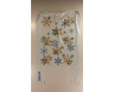 """Пакеты """"майка""""(28+2*7,5х49) с  изображением  Снежинки   (100 шт)"""
