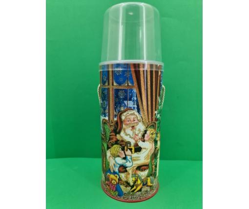 Новогодний тубус для конфет  большой/Санта Клаус (d-117*250mm) (1 шт)