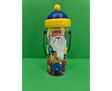 Новогодний тубус для конфет  малый  /Дед Мороз и мальчик(d-67*165mm) (1 шт)