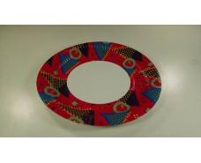 Тарелка бумажная ламинированая 18см рисунок Красная  50шт (1 пач)