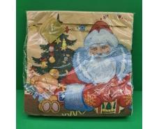 Праздничная салфетка (ЗЗхЗЗ, 20шт) LuxyНГ Дед мороз и медвежонок(1230) (1 пач)