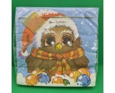 Новогодняя салфетка (ЗЗхЗЗ, 20шт) LuxyНГ Замичтавшаяся сова (1 пач)
