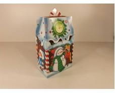 Новогодняя коробка для конфет №106 а (Конфетный домик700) (25 шт)
