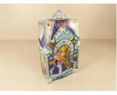 Новогодняя коробка для конфет №106 Б (Леденой  домик700) (25 шт)