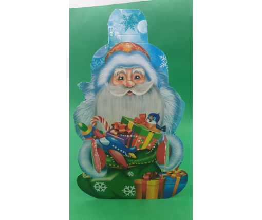 Новогодняя коробка для конфет №111( Дед Мороз Большой 600) (25 шт)