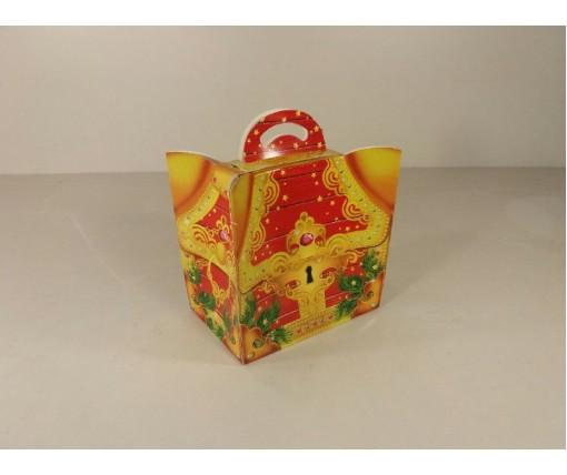 Новогодняя коробка для конфет №112А(Сундучок 600) (25 шт)