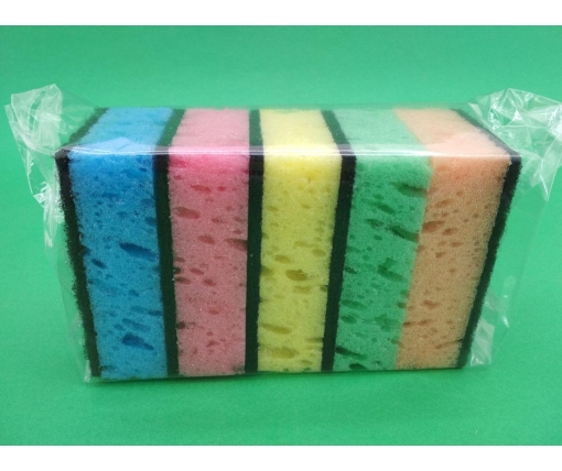 Мочалка для мытья посуды 5шт Харьков ( Макси) крупнопористая (1 пач)