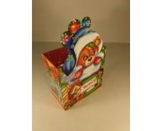Новогодняя коробка для конфет №003а(Медведик 600гр) (25 шт)