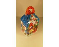 Новогодняя коробка для конфет №005а(Дед мороз и ежик 700гр) (25 шт)