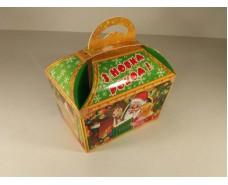 Новогодняя коробка для конфет №012а( Зимние сказки 400гр) (25 шт)