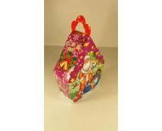 Новогодняя коробка для конфет №013а( Пингвины  500гр) (25 шт)