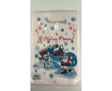 """Пакеты с вырубной ручкой (20*30) """" НГ Дед Мороз и снеговик"""" ХВГ (100 шт)"""