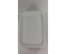 Тарелка бумажная прямоугольная 210*150 мм Белая  50шт (1 пач)