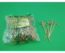 Палочки бамбуковые с узелком  9см,100 шт (1 пач)