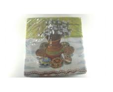 Праздничная салфетка (ЗЗхЗЗ, 20шт) Luxy  Вербовый букет (406) (1 пач)