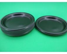 Тарелка одноразовая пластиковая 220 mm Черная (50 шт)