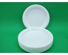 Тарелка одноразовая пластиковая 240 mm белая (100 шт)