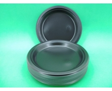 Тарелка одноразовая пластиковая 240 mm Черная (50 шт)