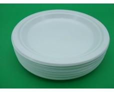Тарелка одноразовая пластиковая 260 mm белая (50 шт)