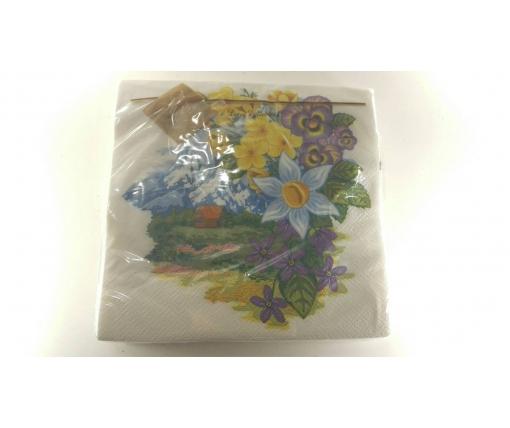 Дизайнерская салфетка (ЗЗхЗЗ, 20шт) Luxy  Удивительный сад (661) (1 пач)