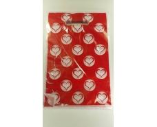 """Пакеты с вырубной ручкой (20*30) """"Сердечки"""" ХВГ (100 шт)"""