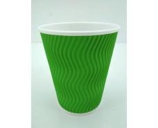 Стакан гофрированный 400мл  Зеленый (15 шт)