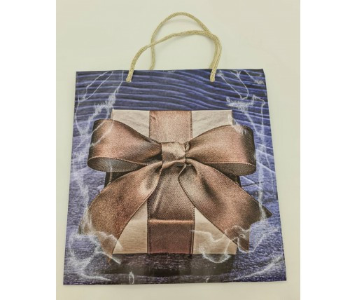 Пакет бумажный подарочный квадратный ы 23*24*10(артKV-092) (12 шт)