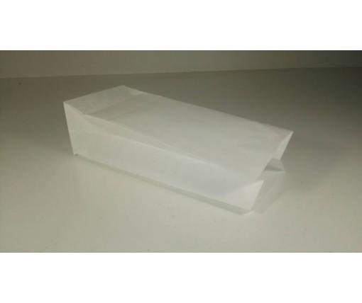 Пакет с дном бумажный 21,5*9*6,5  белый №17 (25 шт)