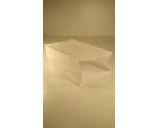 Пакет с дном бумажный 24*15*9  белый №19 (25 шт)