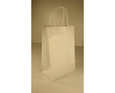 Пакет с ручками бумажный 28*19*11,5  белый №2 (25 шт)