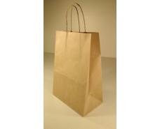 Пакет с ручками бумажный 28*19*11,5  коричневый №6 (25 шт)