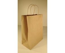 Пакет с ручками бумажный 29*23*12  коричневый №4 (25 шт)