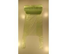 Майка фасовочная в рулоне 200шт  №22х45 (10мк)зеленая  (1 рул)