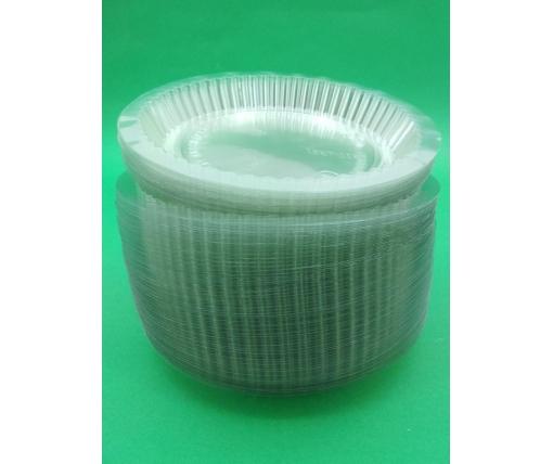 ᐉ Крышка PET на алюминиевый контейнер SPТ51 100шт круглая (1 пачка)